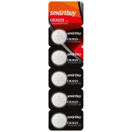 Батарейка SmartBuy CR2025 литиевая, BC5 (5шт. упаковка)