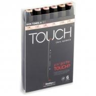 Набор маркеров для скетчинга Touch Twin ShinHanart, 6 цветов, телесные тона