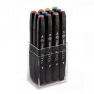 Набор маркеров для скетчинга Touch Twin ShinHanart, 12 основных цветов