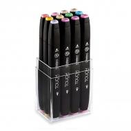 Набор маркеров для скетчинга Touch Twin ShinHanart, 12 пастельных цветов