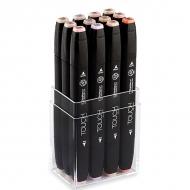 Набор маркеров для скетчинга Touch Twin ShinHanart, 12 цветов, телесные тона