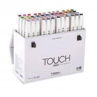 Набор двусторонних маркеров с кистью Touch Brush ShinHanart, 48 цветов