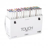 Набор двусторонних маркеров с кистью Touch Brush ShinHanart, 60 цветов (B)