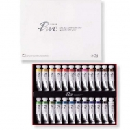 Набор акварельных красок в тубах Premium Water Color ShinHanart, 24 цвета по 15 мл