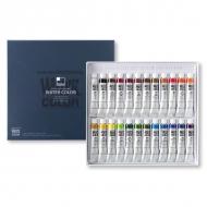 Набор акварельных красок в тубах Water Color Pro ShinHanartt, 24 цвета по 7,5 мл