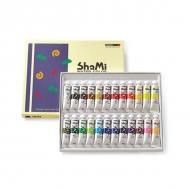 Набор акварельных красок в тубах Shami Water Color ShinHanart, 24 цвета по 10 мл