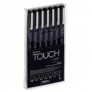 Набор капиллярных ручек-линеров Touch Liner ShinHanart, 7 шт, черные, 0.05-0.8 мм, С, В