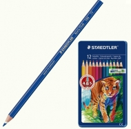 Набор цветных карандашей Staedtler Noris Club 12 цветов, металлическая коробка