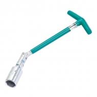 Ключ свечной карданный Stels, оцинкованный, прорезиненная рукоятка, размер 16х250 мм