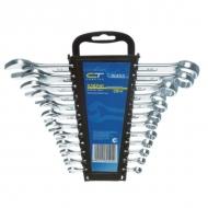Набор комбинированных ключей Сибртех, 6-22 мм, 12 шт., хромированные, держатель с подвесом