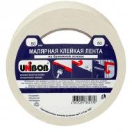 Клейкая малярная лента Unibob, креппированная 50мм х 50м, профессиональная