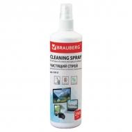 Чистящая жидкость-спрей Brauberg для экранов мониторов, телевизоров и др. оптических поверхностей, 250 мл