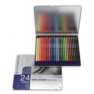 Набор цветных карандашей для рисования Van Gogh Royal Talens 24 шт. в металлической коробке