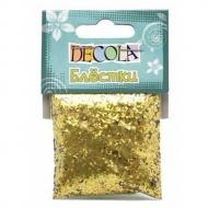 Блестки декоративные Decola, 1 мм, 20 г, золото/серебро