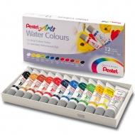 Акварельные краски Pentel Arts Water Colours 12 цветов