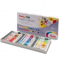 Акварельные краски Pentel Arts Water Colours 24 цвета