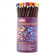 Набор цветных карандашей Derwent Coloursoft, 24 цвета, по 3шт., в тубусе