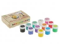 Акриловые краски по ткани Аква-Колор, набор 12 цветов по 10 мл