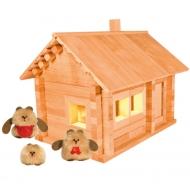 Конструктор из дерева «Избушка три медведя с куклами и электропроводкой»