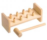 Деревянная развивающая игра Пелси «Гвозди-перевертыши» (8 гвоздиков)