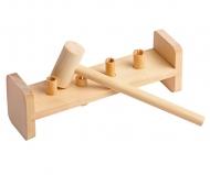 Деревянная развивающая игра Пелси «Гвозди-перевертыши» (4 гвоздика)