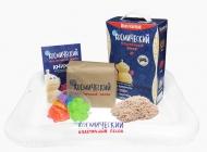 Набор Космический пластичный песок 3 кг (классический) + песочница + формочки