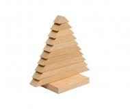 Деревянная развивающая игра Пелси пирамидка «Елочка»