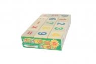 Деревянная развивающая игра Пелси кубики «Веселый счет» (15 шт)