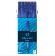 """Ручка шариковая автоматическая Schneider """"Fave"""" синяя, 0,5мм, упаковка 50 шт."""