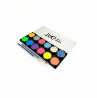 Набор профессиональных красок для аквагрима TAG, цвета перламутр и неон, 12x10г, 2 кисти