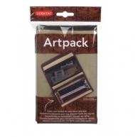 Пенал холщовый Derwent Artpack для карандашей, 2 кармана