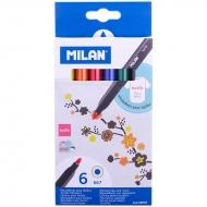 """Набор фломастеров для ткани Milan """"667"""", 6 цветов"""