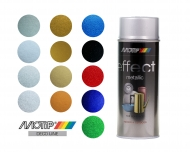 Аэрозольная эмаль MOTIP DECO EFFECT METALLIC с эффектом металлик, быстросохнущая, 520 мл
