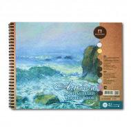 """Альбом для пастели """"Aquamarinе"""" Лилия Холдинг, цветная бумага, 160 г/кв.м, 24х30 см, 54 л"""