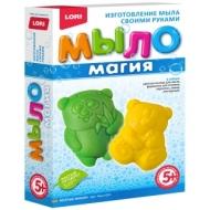 """Набор-мини для мыловарения Lori Мыло Магия """"Веселые мишки"""""""