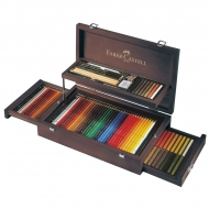 """Художественный набор для графики Faber-Castell """"Art & Graphic Collection"""", 125 предметов, деревянный короб"""
