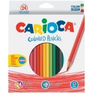 Карандаши Carioca 24цв., заточен., картон, европодвес