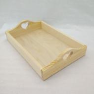 Заготовка Timberlicious деревянная для декорирования поднос с сердцем 38х25х8,4см