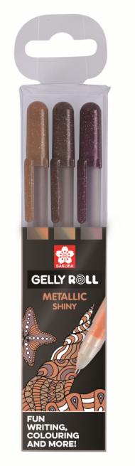 Набор гелевых ручек Sakura Gelly Roll Metallic Природа 3 штуки в блистере