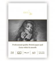 Альбом SM-LT Art Bristol pad 308г/м2 A3 10 листов склейка по короткой стороне
