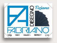 Блок для пастели Fabriano Tiziano 160г/м.кв 24x33см черные листы 12л