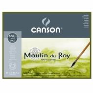 Блок для акварели Canson Moulin du Roy 300г/кв.м (хлопок) 23*30.5см 20листов Фин