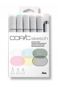 Набор маркеров Copic Sketch Blending Basics 6 штук в пластиковой упаковке