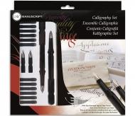 Набор Manuscript Calligraphy 4 (2 ручки, 12 картриджей и 4 пера) в блистере