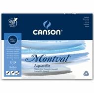 Альбом для акварели Canson Montval 300г/кв.м (целлюлоза) 18*25см 12листов Фин склейка склейка по короткой стороне
