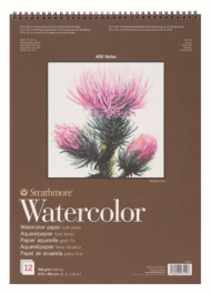 Альбом для акварели Strathmore 400 Series Watercolor 300г/кв.м, 27,9х38,1см, 12л