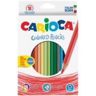 Карандаши Carioca 18цв., заточен., картон, европодвес