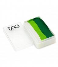 Профессиональный гипоаллергенный аквагрим Сплит-кейк TAG «Белые листья», 30г, 3 цвета