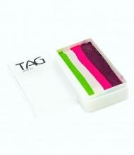 Профессиональный гипоаллергенный аквагрим Сплит-кейк TAG «Цветы», 30г, 4 цвета