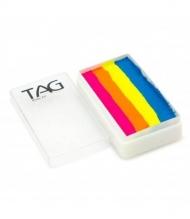 Профессиональный гипоаллергенный аквагрим Сплит-кейк TAG «Неоновый коктейль», 30г, 4 цвета